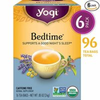 Yogi Tea - Bedtime - Soothing and Spicy Sweet - 6 Pack, 96 Tea Bags Total
