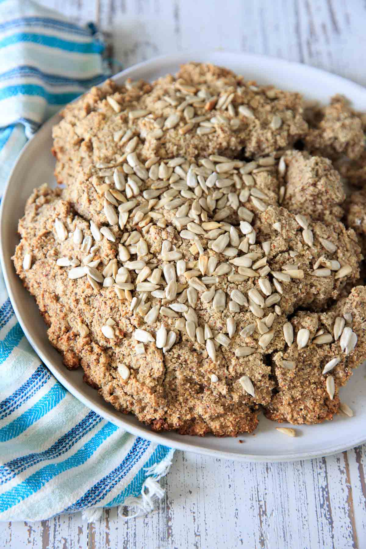 Gluten-free quinoa bread with a touch of honey for sweetness. A good soup and stew bread or hearty quick bread!
