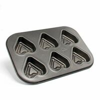 Beneking Muffin Pan 6 Cup Nonstick Carbon Steel Cupcake Pan Heart Shape (2-Pack)