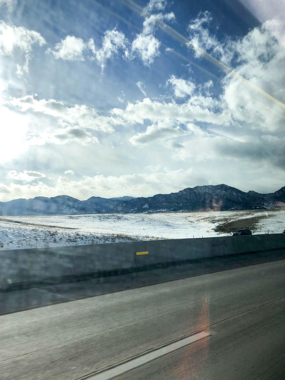 view from the bus near Denver Colorado