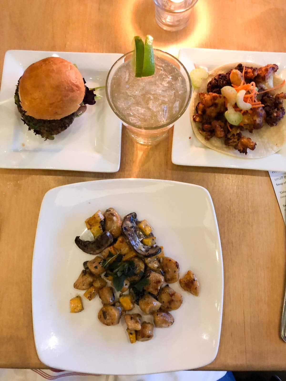 Leaf vegetarian restaurant Boulder Colorado happy hour