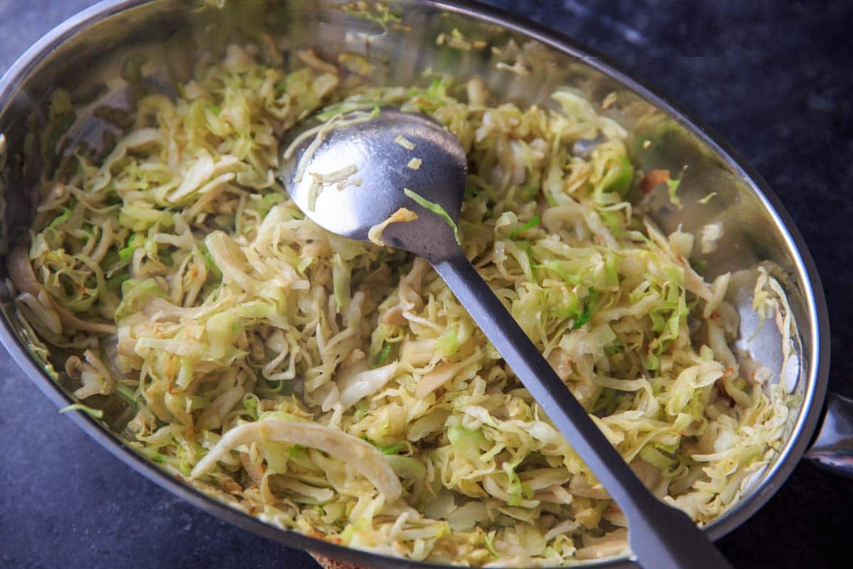 garlic Sauteed Cabbage Recipe