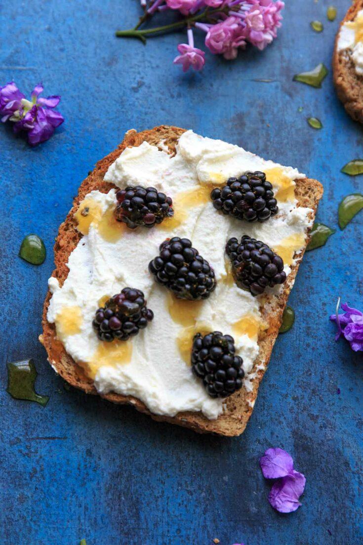 Blackberry Ricotta Honey Toast