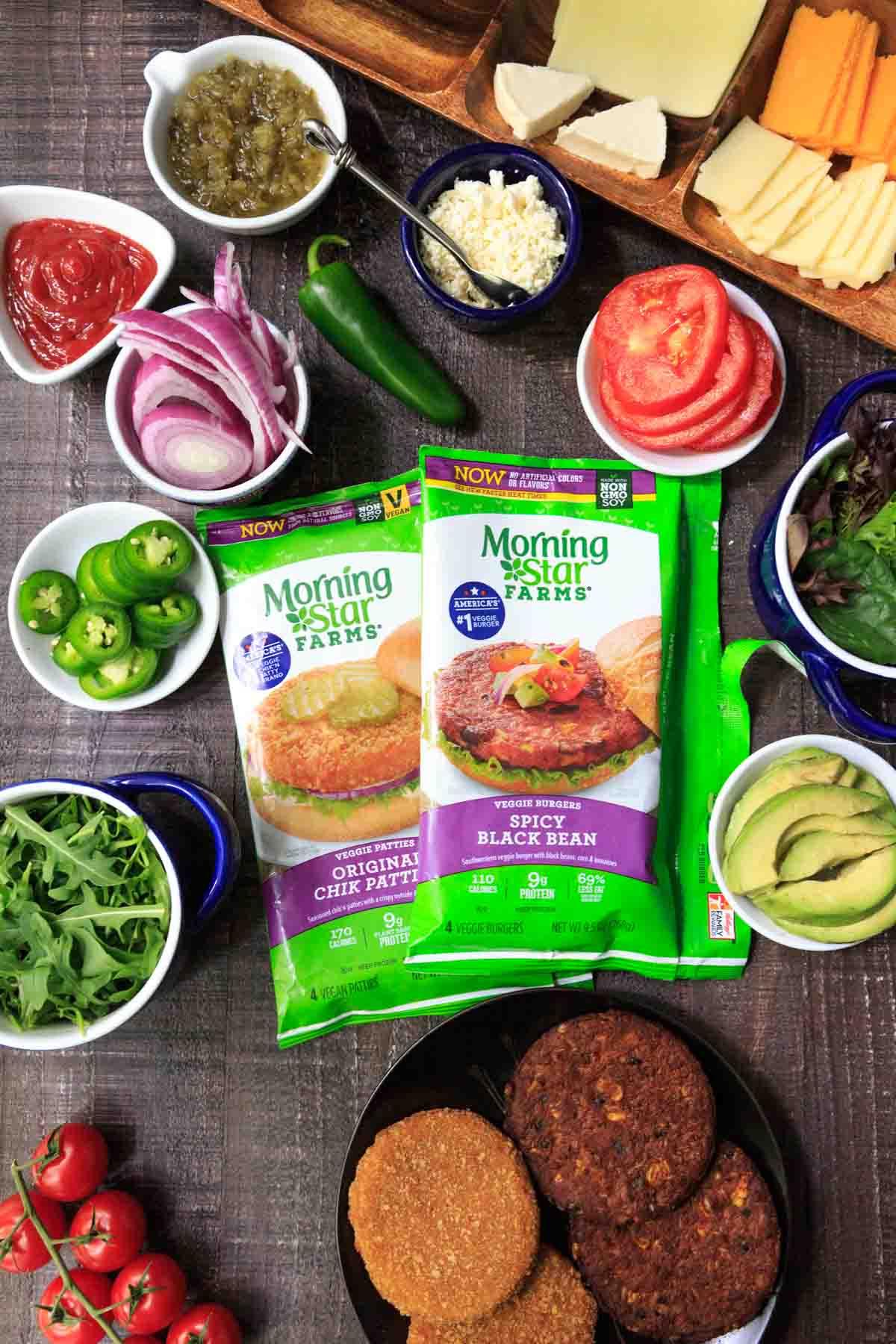 Vegetarian Burger Bar with MorningStar