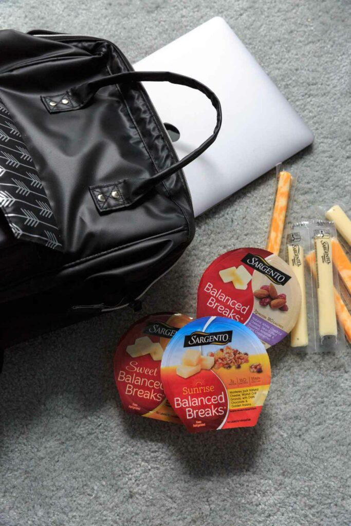 Packing Sargento Snacks in my carry on bag
