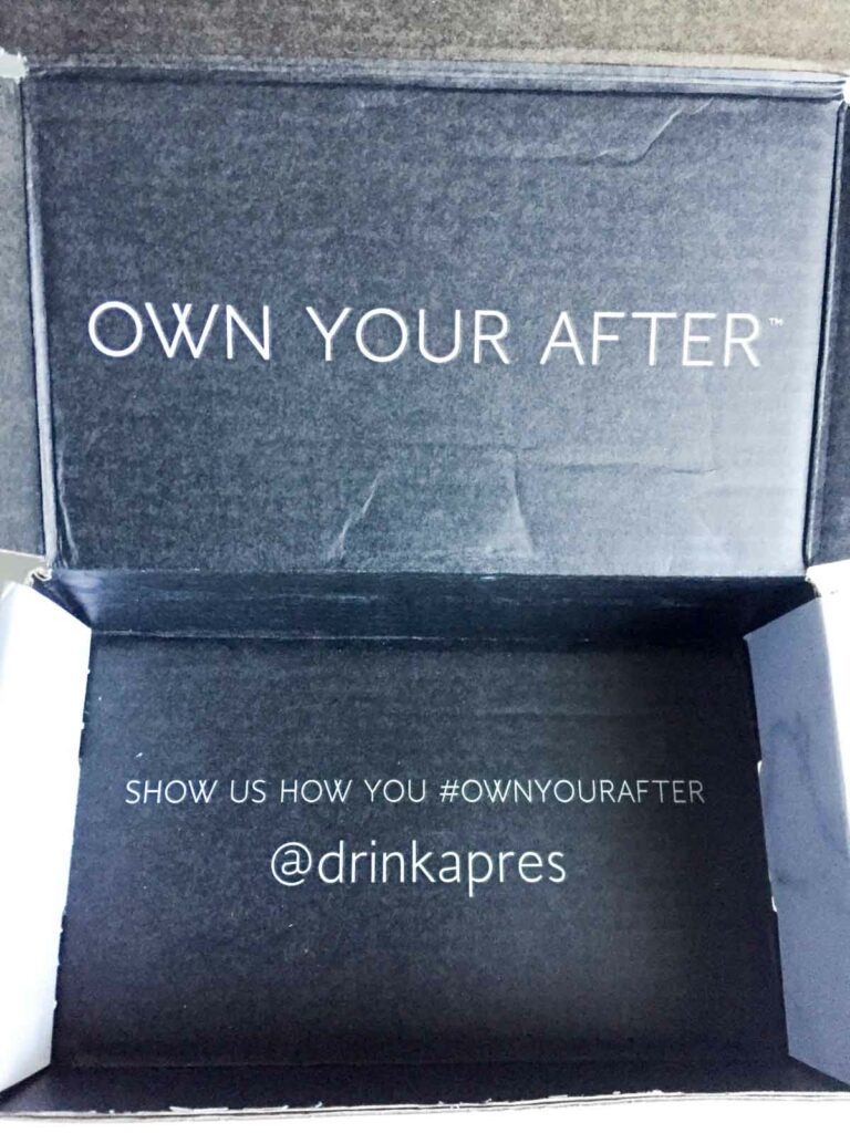 Après Own Your After shipment box