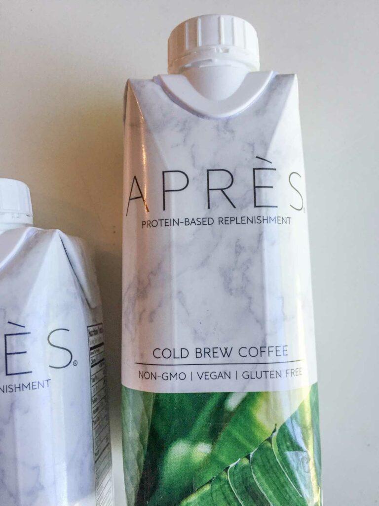 Après cold brew coffee flavor bottle