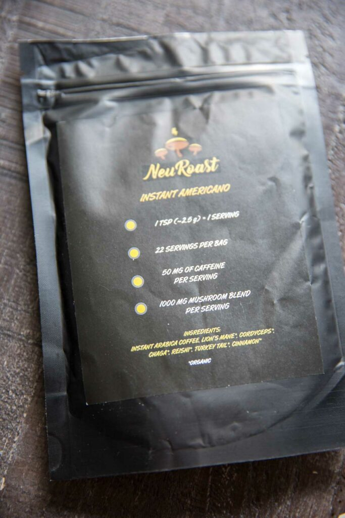 Neuroast Instant Americano back of the bag