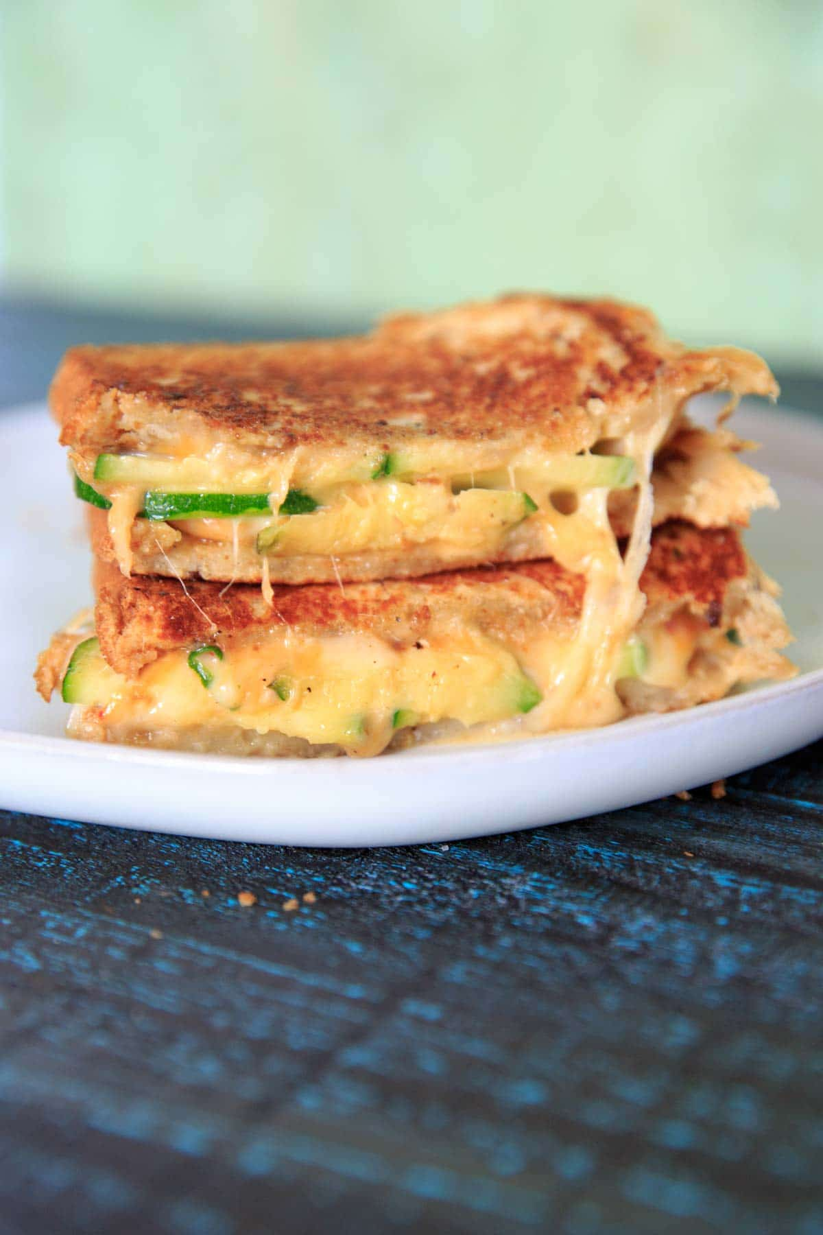 Have a bunch of zucchini? Add some to a warm, melty grilled cheese sandwich! The crunch from the zucchini is a delicious addition to this comfort food, and you'll hardly even notice you're getting a serving of vegetables.