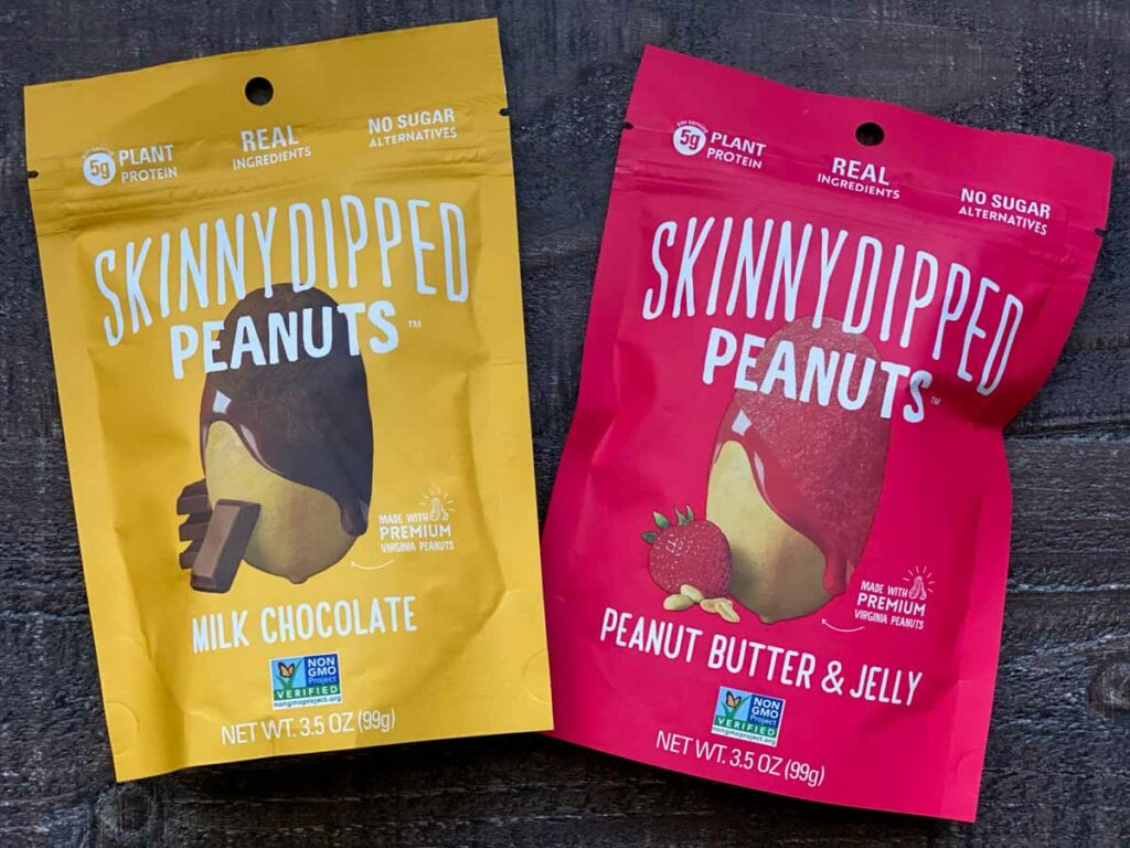 skinny dipped peanuts