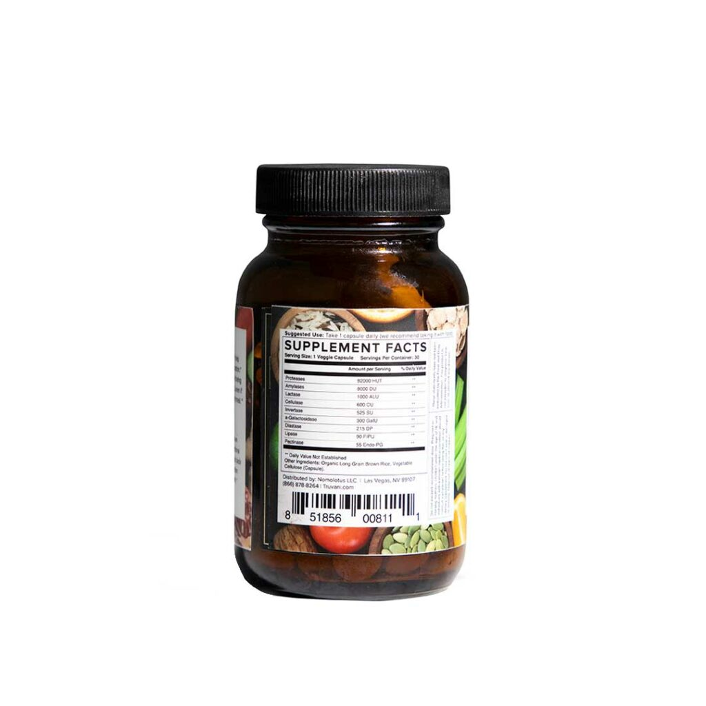 Truvani easy enzymes nutrition facts