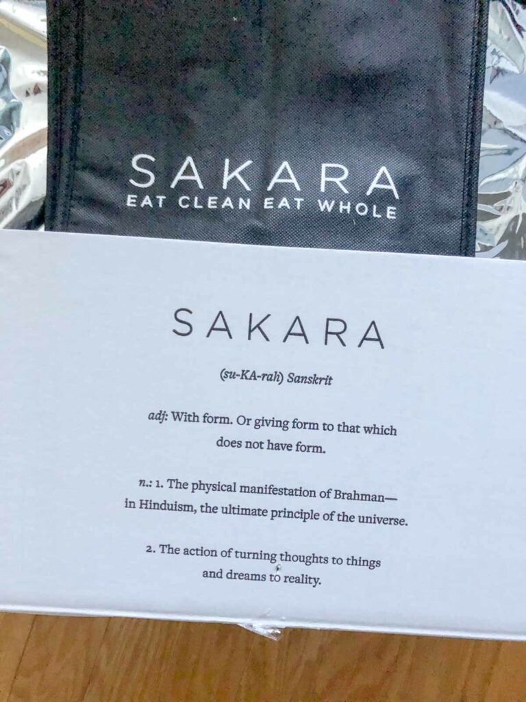 Sakara Life delivery box