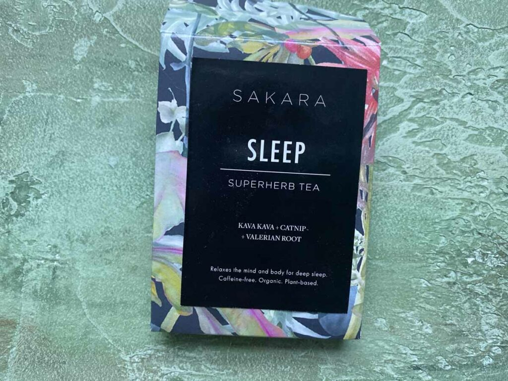 Sakara Life sleep tea with catnip