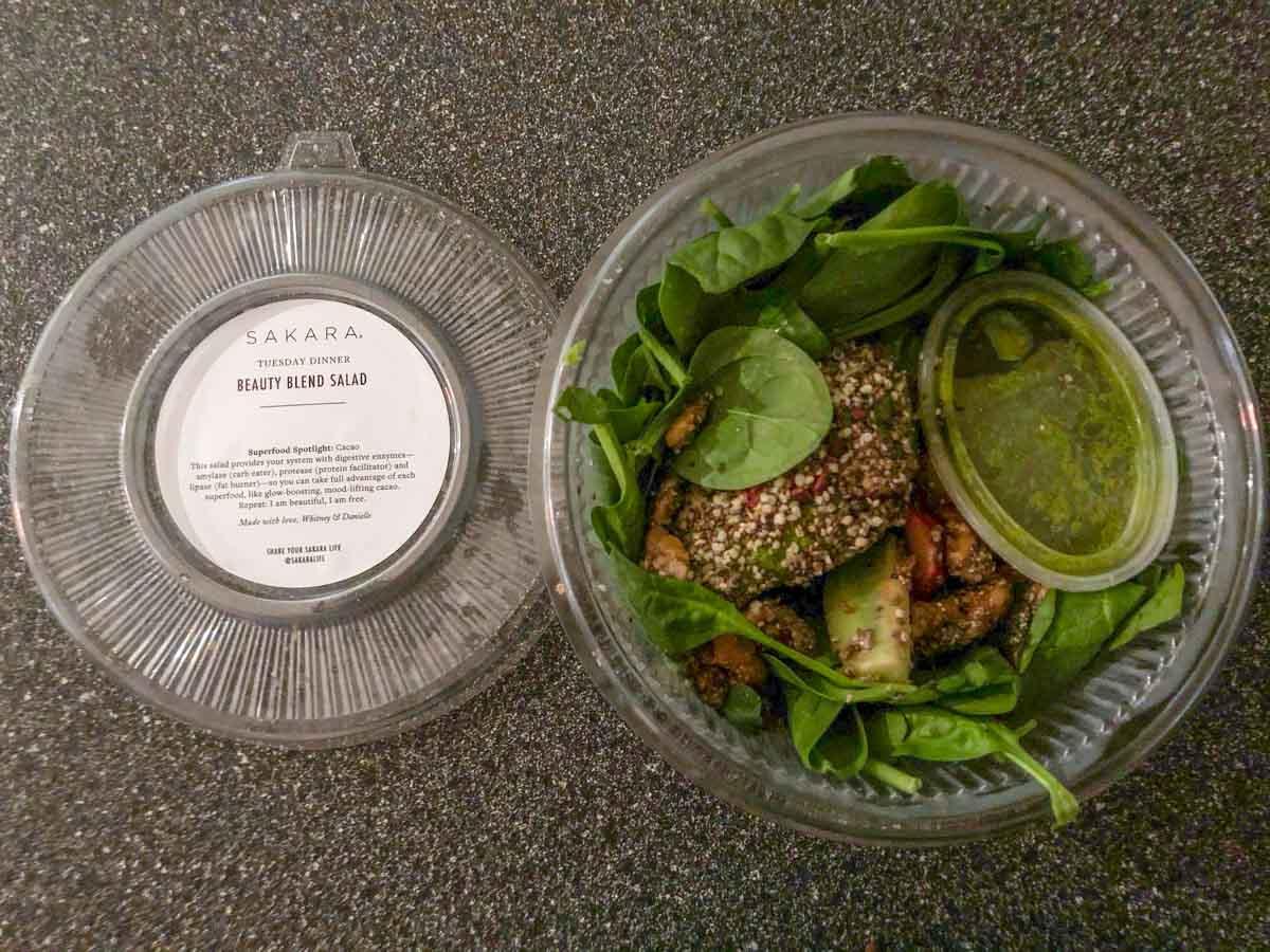 Sakara beauty blend salad