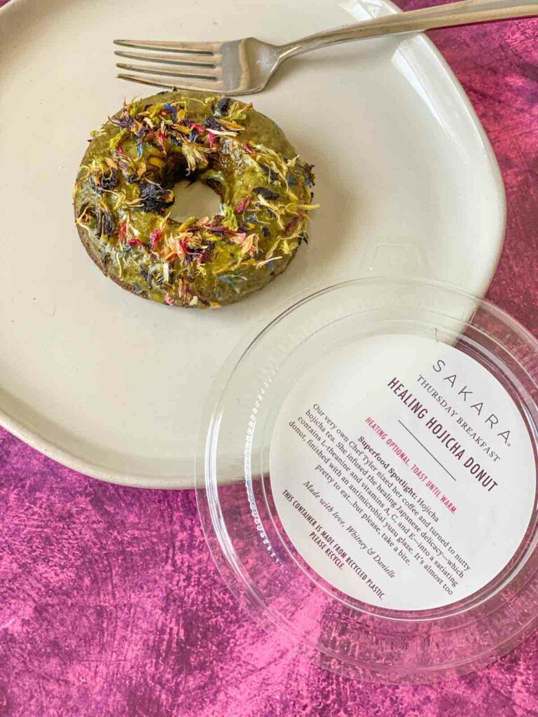 Healing Hojicha Donut from Sakara Life
