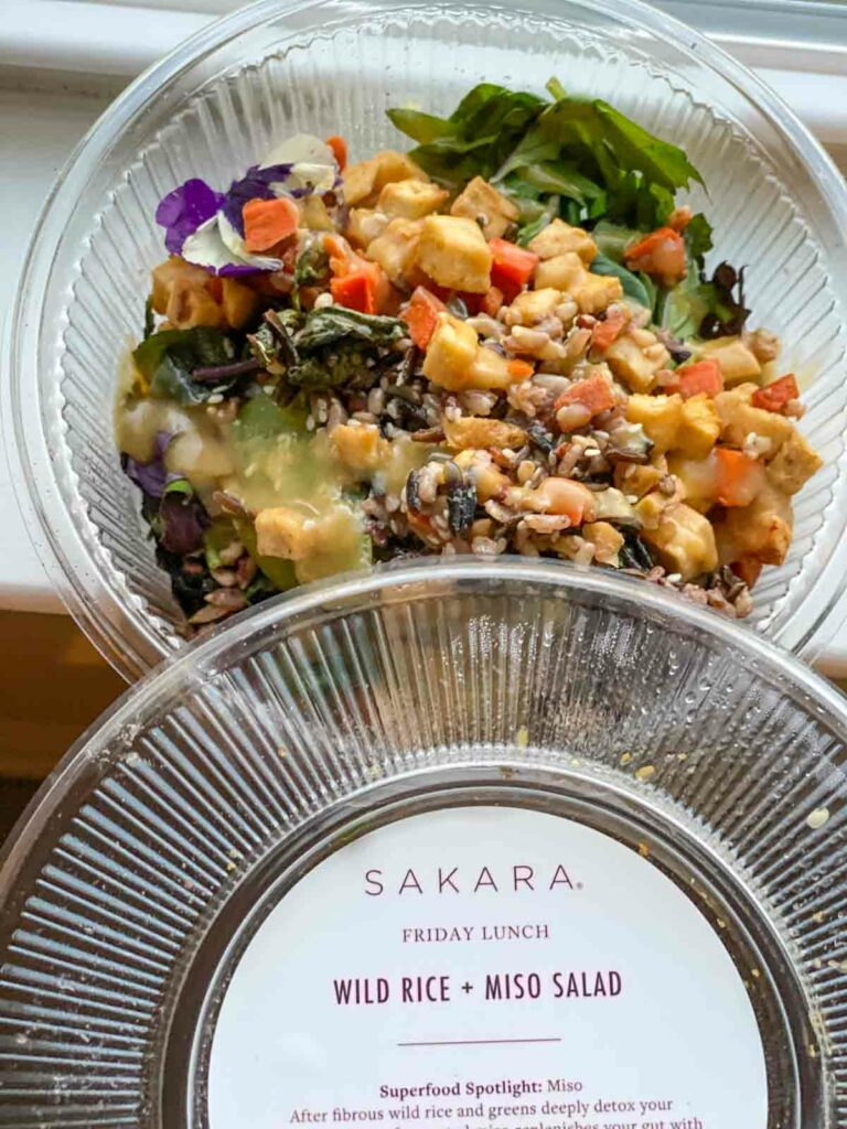 wild rice and miso salad from sakara