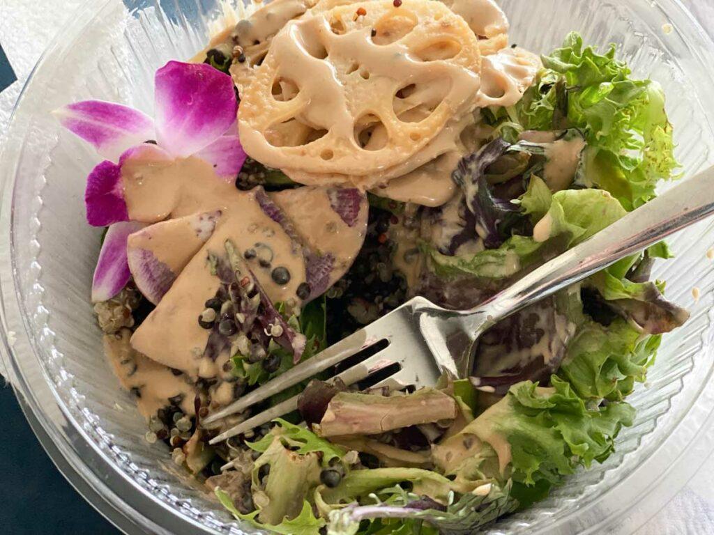 sakara earth bowl with lotus root