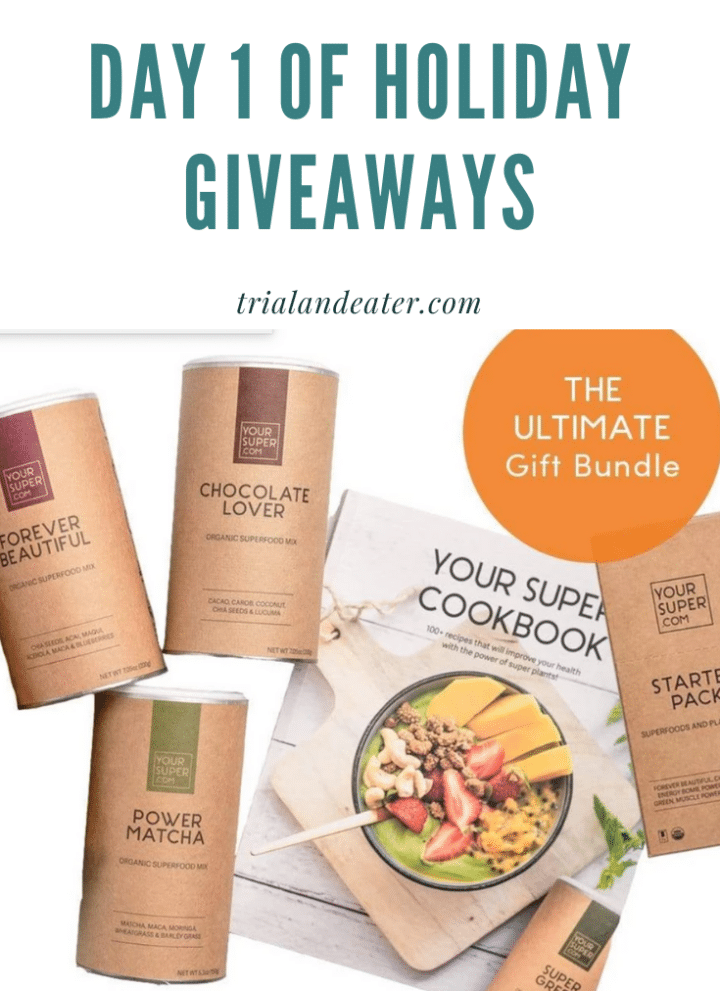 Day 1 of holiday giveaways trial and eater your super