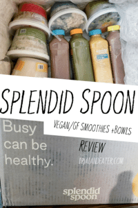 A review of the plant-based soups, smoothie and grain bowl delivery service, SplendidSpoon.com! All of their meals and smoothies are vegan and gluten-free. Read more about them and find out their latest specials here!