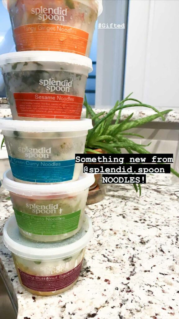5 flavors of splendid spoon noodles