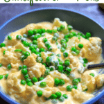 Easy cheesy cauliflower with peas pinterest