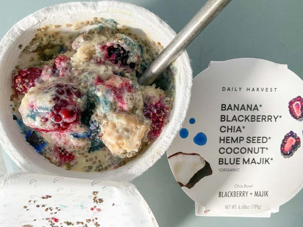 blue majik chia bowl from daily harvest