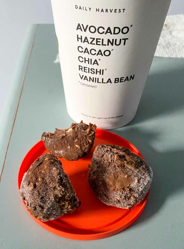 hazelnut cacao dessert bites from daily harvest