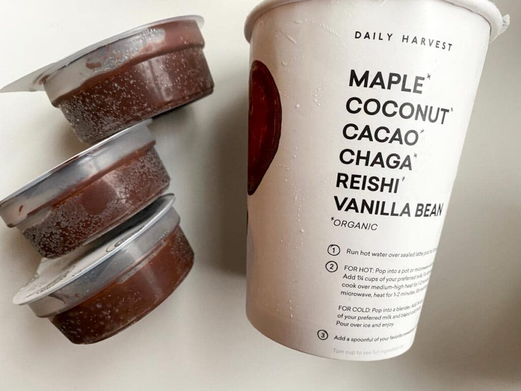 chaga chocolate latte capsules from daily harvest