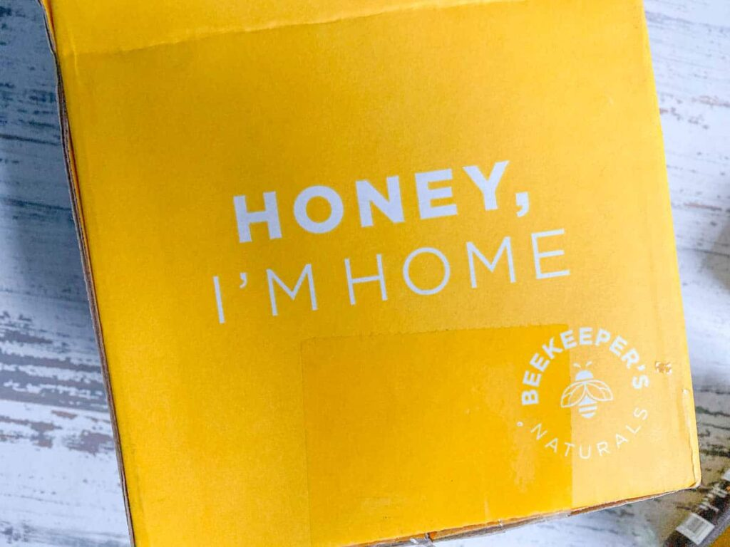"beekeepers naturals delivery box ""honey, I'm home"""