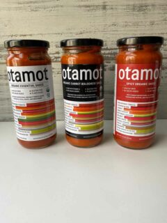 3 jars of Otomat Sauces - Essential, Spicy and Carrot Bolognese