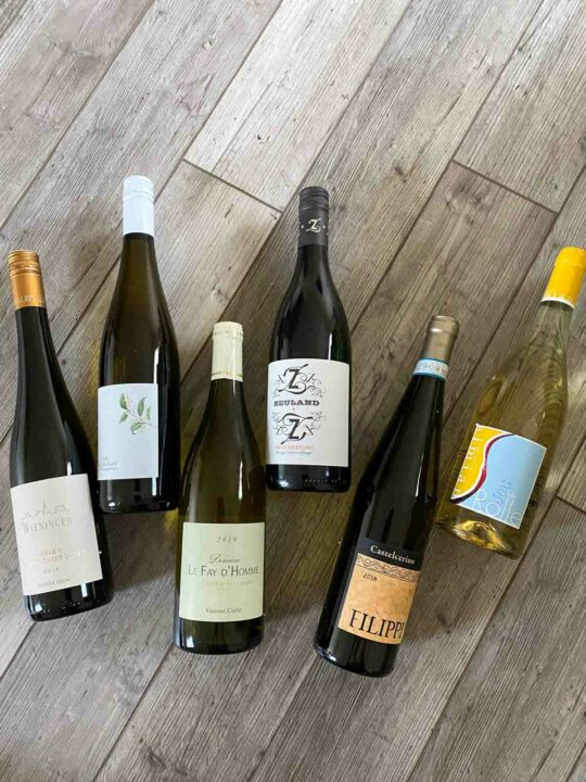 6 bottles of Dry Farm Wines white wine
