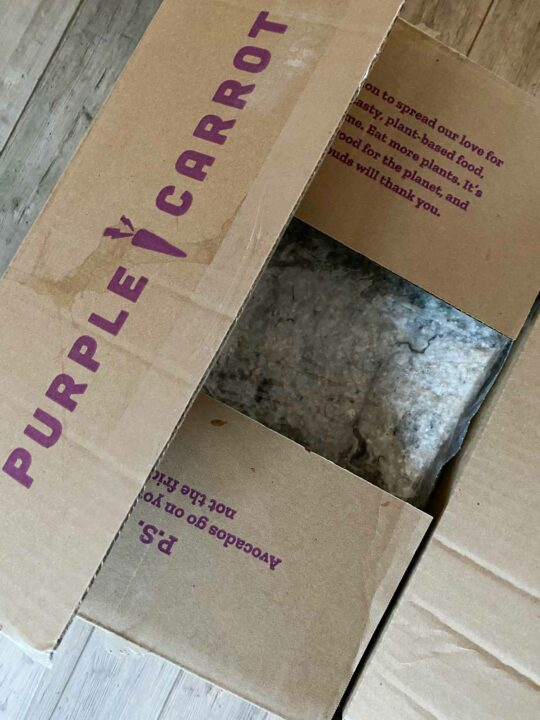 Purple Carrot delivery meal kit box