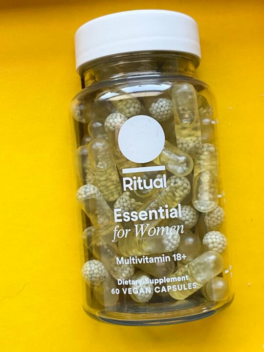 ritual womens essential vitamin bottle - back front