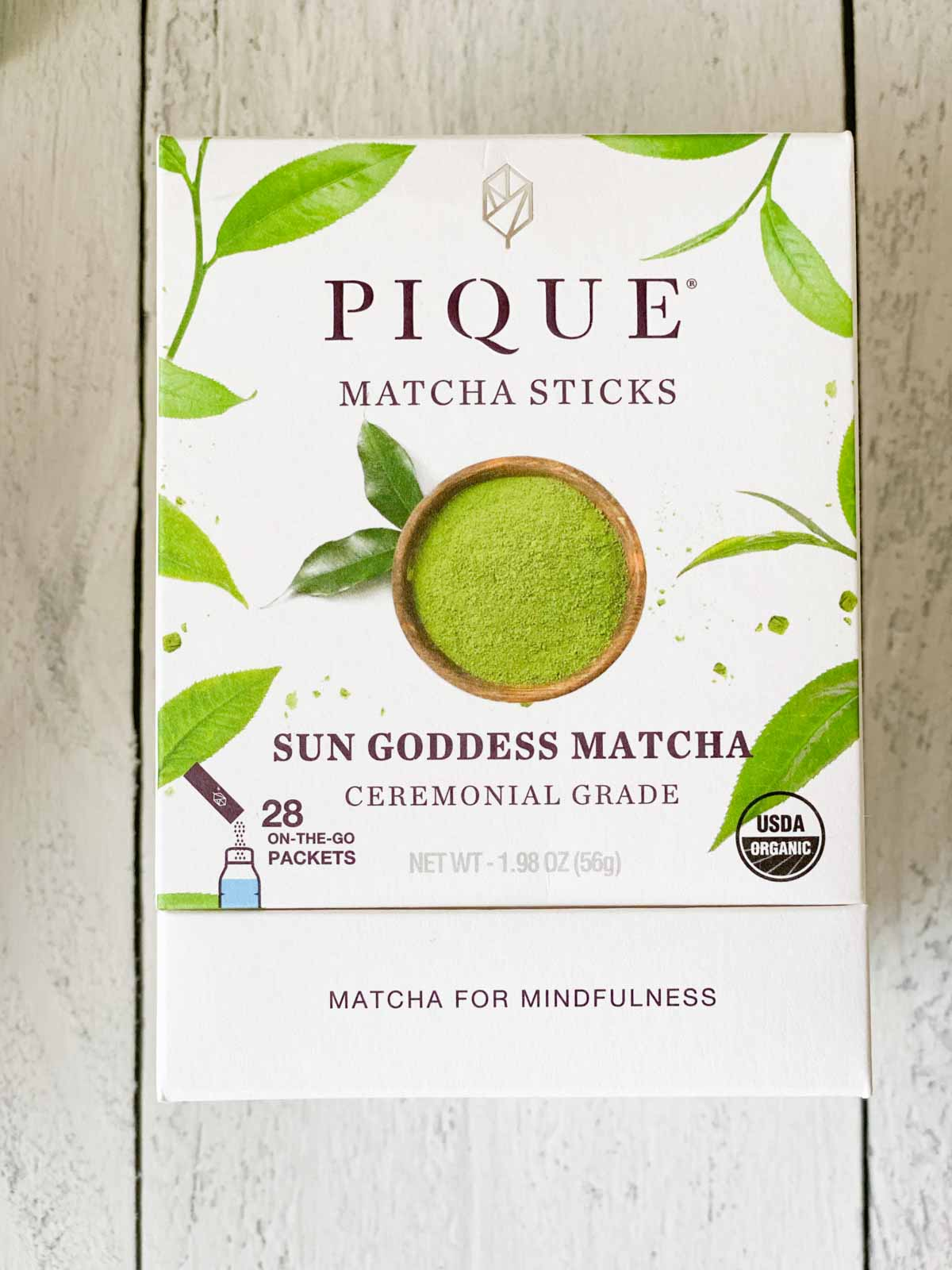 pique matcha sticks sun goddess matcha box