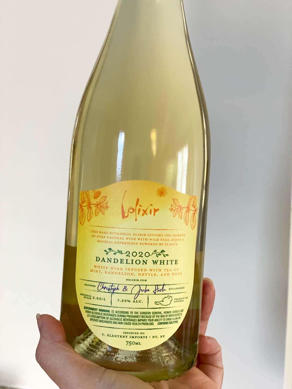 bolixir dandelion white bottle