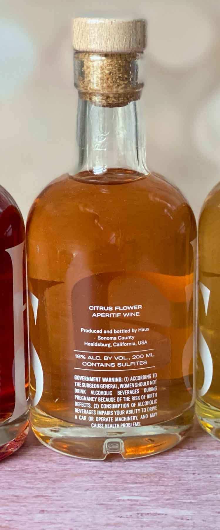 back of citrus flower haus sampler bottle