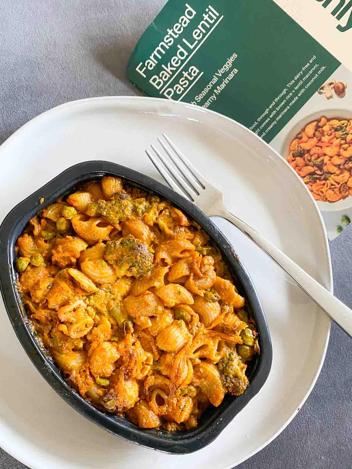 Freshly Farmstead baked lentil pasta